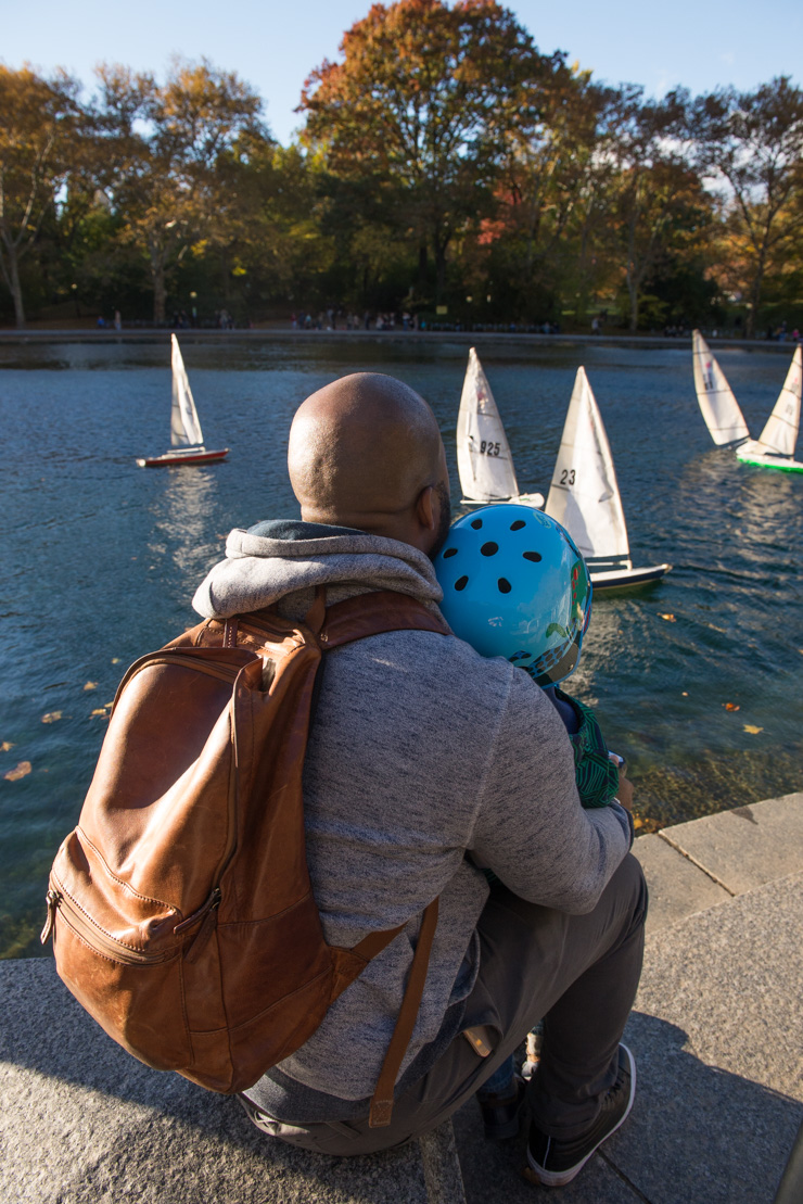 Remote-controlled boats in Central Park