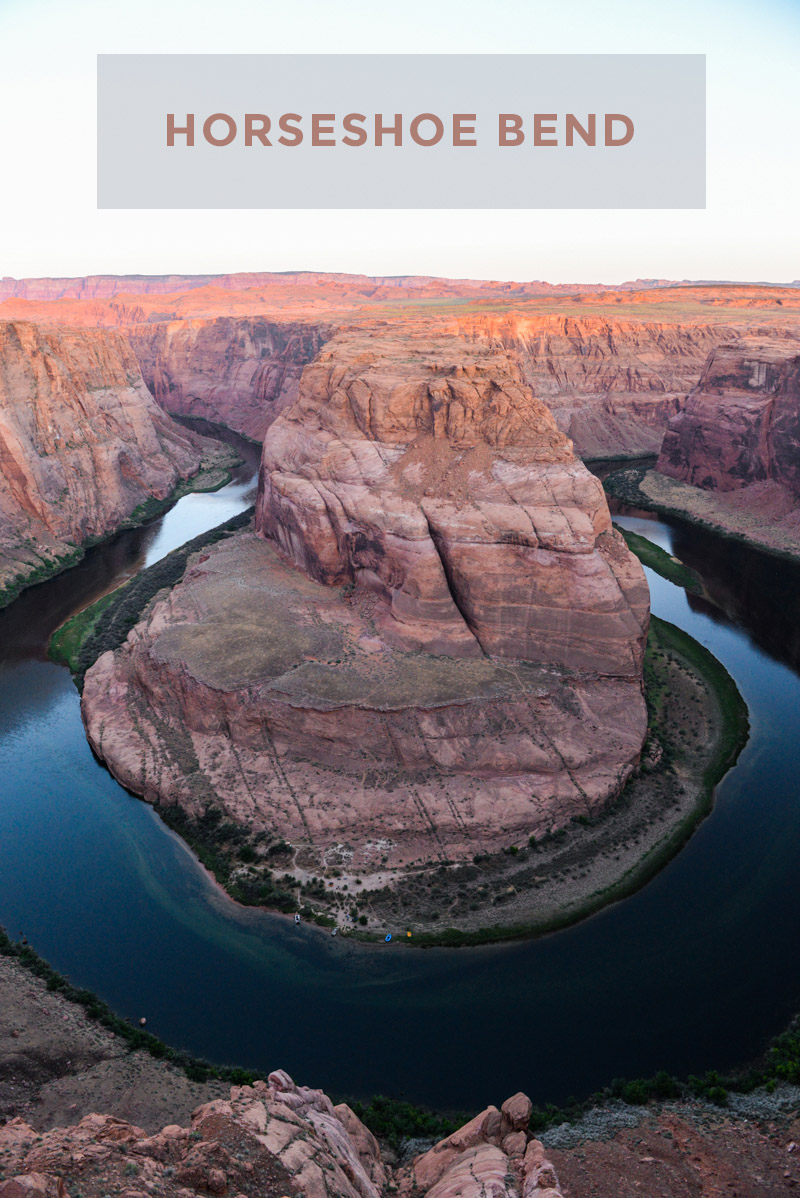 Visiting Horseshoe Bend in Page, AZ